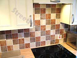 On This Kitchen We Put Textured Tiles Onto The Wall To Add Colour Into